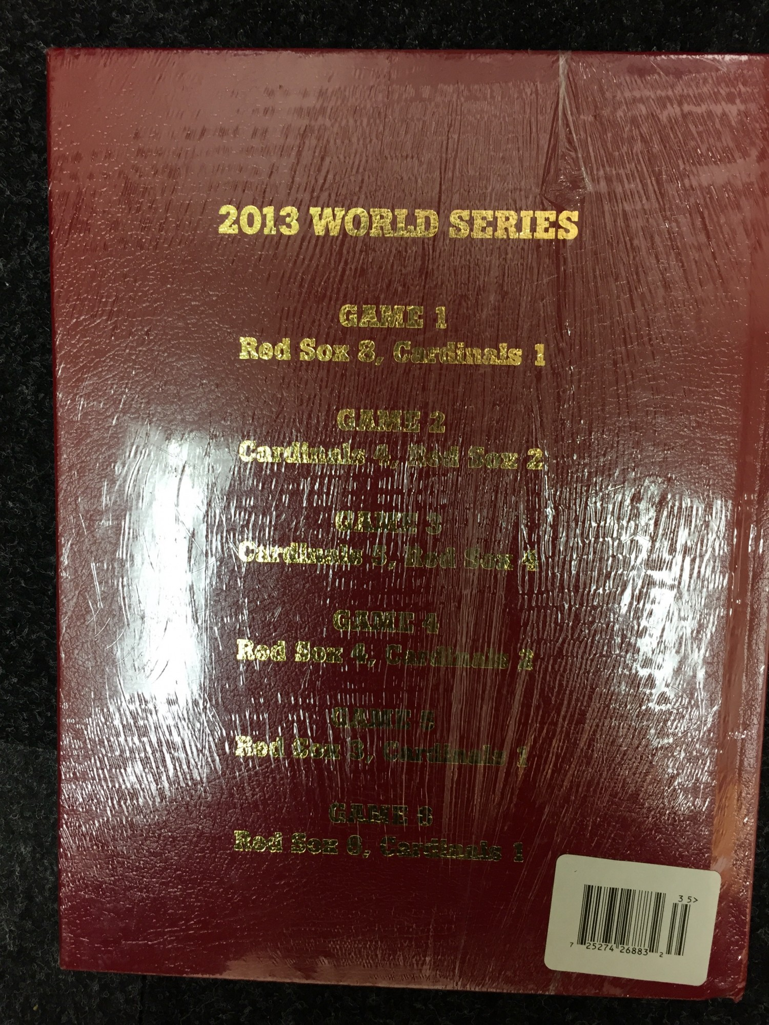 BOSTON RED SOX 2013 WORLD SERIES HARDCOVER BOOK | Inventory